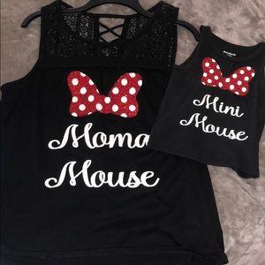 Moma and mini mouse matching shirts
